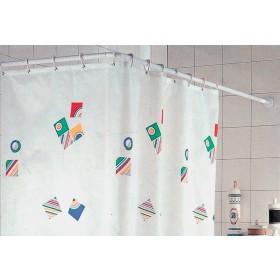 Telaio per tenda doccia in alluminio bianco cm. 80X80