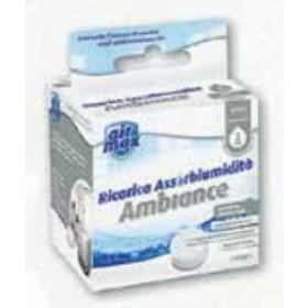 Airmax Ambiance sali fragranza neutra conf. 1 ricarica tab da 100 g - assorbi umidità casa
