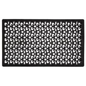 Zerbino in plastica nero ISMAR dimensioni cm 40x70 Mod STELLA