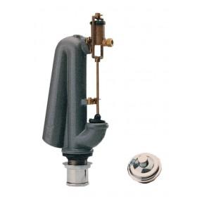 Gruppo scarico water CATIS batteria con pulsante e tubo Art 100