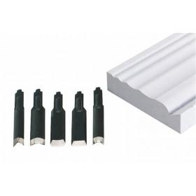 Serie 5 Coltelli di ricambio per incisore legno PROXXON Art 28572