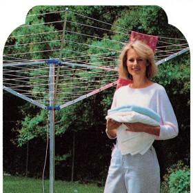 Stendibiancheria ombrello cm 195x195x160h in alluminio ø palo mm 38