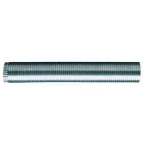 Tubo flessibile per stufa in alluminio cm. 90 estendibile fino a 3 m. diametro cm. 30 - impianto riscaldamento casa