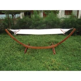 Amaca in legno balau con finitura ad olio - giardino casa mare piscina