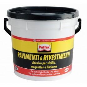 Colla PATTEX pavimenti e rivestimenti barattolo 5 kg a presa rapida