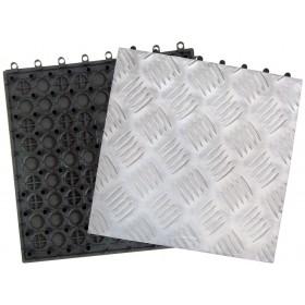 Pavimento a piastrelle in alluminio conf. Pz. 10 su supporto in resina cm. 31x31 - arredo casa  giardino piscina