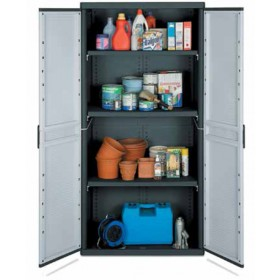 Kit armadio 2 ante in resina antiurto Terry Mod. Jumbo cm. 90x54x180h - arredo casa ufficio balcone garage condominio