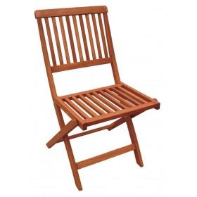 Sedia pieghevole in legno meranti cm. 46x58x83h - arredo casa giardino balcone