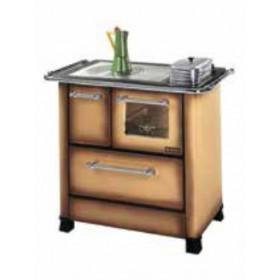 Cucina a legna Nordica Mod. Romantica 4.5 marrone 6.0 kW 172 m³ - stufa riscaldamento casa arredo interni