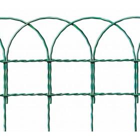 Rete ornamentale verde altezza cm 90 rotolo 25 m per recinzioni