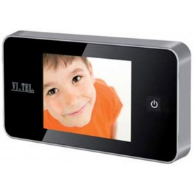 """Spioncino digitale cromo satinato mm 110x59x14h schermo LCD 2.6"""" E0426"""
