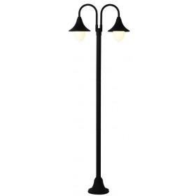 Lampione Serie Parigi in alluminio verniciato nero cm. 210 per lampada da 100 W - casa giardino