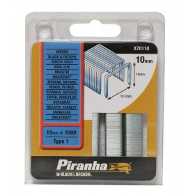 Graffette 10 mm PIRANHA 1000 pz graffatrice sparapunti - Mod. X70110