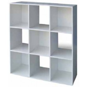 Libreria Cubo a 9 vani bianca mobile componibile cm. 91x29.5x91h - arredo casa ufficio