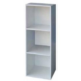 Libreria Cubo a 3 vani bianca mobile componibile cm. 31x29.5x91h - arredo casa ufficio