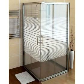 Cabina doccia in cristallo serigrafato 6 mm ad estensione regolabile cm 74/80 x 94/100 - box arredo bagno