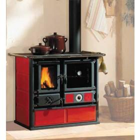 Termocucina a legna Nordica Mod. Rosa bordeaux 15.5 kW 444 m³ - cucina stufa riscaldamento arredo interni