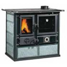 Termocucina a legna Nordica Mod. Rosa in pietra naturale 15.5 kW 444 m³ - cucina stufa riscaldamento arredo interni