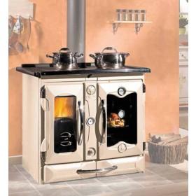 Termocucina a legna Nordica Mod. Suprema Compact crema 18.5 kW 530 m³ - cucina stufa riscaldamento arredo interni