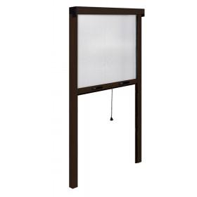 Zanzariera verticale finestre IRS a rullo riducibile marrone cm 100x250