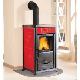 Stufa a legna Nordica Mod. Rossella Plus Liberty bordeaux 8.0 kW 229 m³ - riscaldamento casa arredo interni