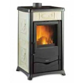 Stufa a legna Nordica Mod. Rossella Plus Liberty pergamena 8.0 kW 229 m³ - riscaldamento casa arredo interni