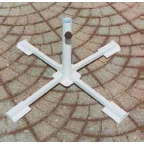 Base per Ombrellone in acciaio verniciato pieghevole - arredo casa giardino
