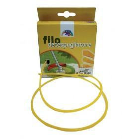 Filo nylon decespugliatore sezione quadrata mm 3.3 confezione 50 metri