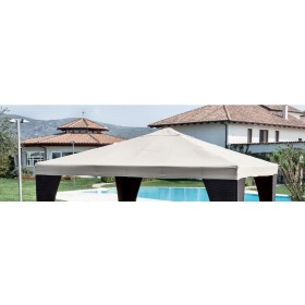 Top di ricambio per gazebo bianco m. 3x4 in poliestere 160 g/mq - arredo casa giardino