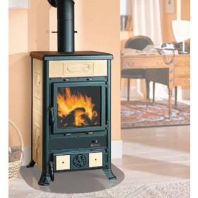 Stufa a legna Nordica Mod. Dorella R1 pergamena 8.5 kW 243 m³ - riscaldamento casa arredo interni
