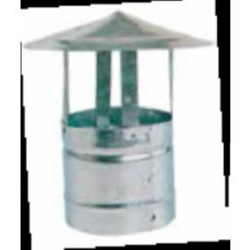 Fumaiolo fisso in acciaio zincato attacco tondo diametro cm. 14 - impianto riscaldamento casa stufa