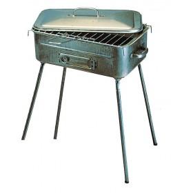 Barbecue a Carbonella Mod. Fornacetta struttura in acciaio piedi pieghevoli completo di Griglia - arredo casa giardino