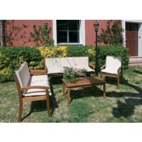 Panca a 2 posti in legno balau per interni ed esterni cm. 120x56x88h - arredo casa giardino