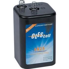 Batteria 6V per lampeggiatore stradale da cantiere Mod LUX