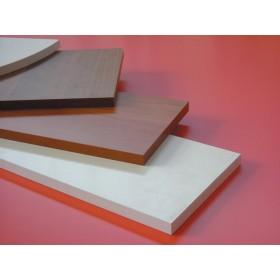 Mensola in legno colore noce cm 100x20x1.8h bordo squadrato