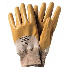 Guanti da lavoro nitrile giallo conf 12 paia tg 8 dorso areato