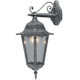 Lanterna Mod. Irlanda in alluminio verniciato grigio ghisa con protezione in vetro per lampada da 100 W - casa giardino