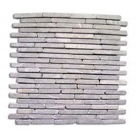 Mosaico in pietra naturale grigio conf. Pz. 11 su supporto in rete cm. 30x30 - arredo casa giardino piscina