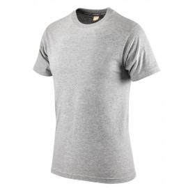 T-Shirt maglia lavoro mezza manica cotone 100% melange taglia XL -NAVY