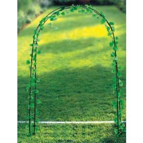 Arco decorativo acciaio verniciato verde per fiori e piante rampicanti