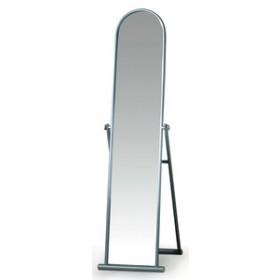 Specchio a pavimento silver con supporto in acciaio