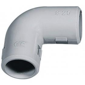 Curva 90° ispezionabile IP 40 connessione tubi ø 20 mm conf. 2 pz