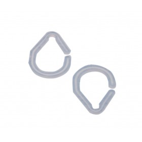 Anelli trasparenti in plastica per tende doccia - conf. 16 pezzi