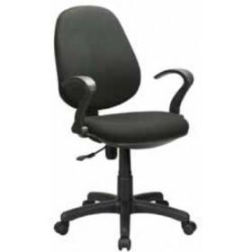 Poltrona girevole Sedia ufficio colore nero Mod. Office con ruote - arredo casa