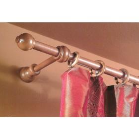Bastone a strappo per tende ø 23 mm colore ciliegio lunghezza 180 cm