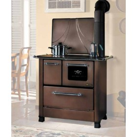 Cucina a legna Nordica Mod. Romantica 4.5 rustic 6.0 kW 172 m³ - stufa riscaldamento casa arredo interni