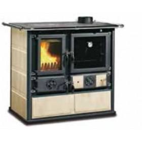 Cucina a legna Nordica Mod. Rosa craquele 6.5 kW 185 m³ - stufa riscaldamento casa arredo interni