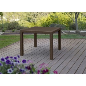 Tavolo in resina effetto polirattan Mod. Melody cm. 94x94x74h - arredo casa giardino