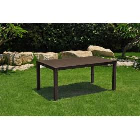 Tavolo in resina effetto polirattan Mod. Melody cm. 160x94x74h - arredo casa giardino