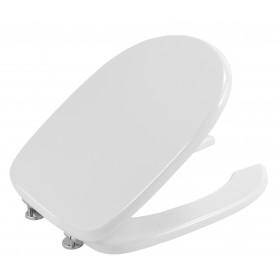 Coprivaso bianco in legno laccato per disabili cm 36.5x45.5 - Gedy